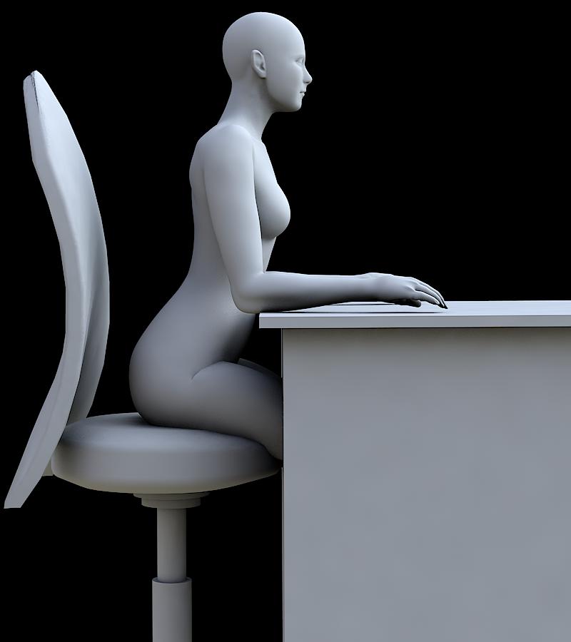 椎間板にストレスの少ない座り方